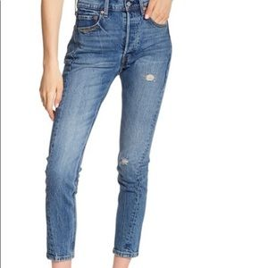 Levi's Altered 501 Skinny High Rise Raw Hem Jean